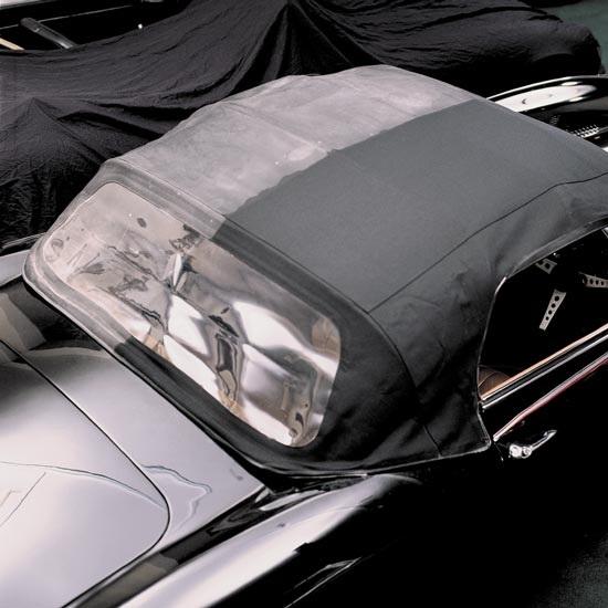 rengøring af kaleche på bil